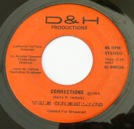 The Gremlins - Corrections - 1969 Garage Psych