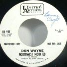 Don Wayne - Northwest Mounted / Lois 45rpm