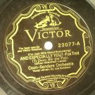 Jean Goldkette Orch - Birmingham Bertha / Coon Sanders Orch - And Especially You 78rpm