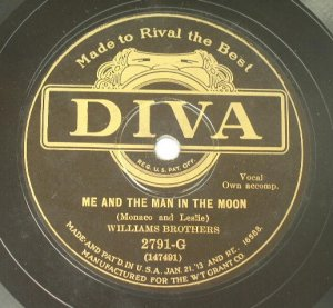Williams Brothers - Me and the Man In the Moon 78rpm
