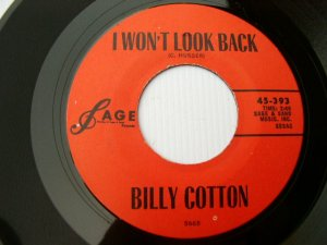 Billy Cotton - I Won't Look Back / Little Moureen 45 rpm
