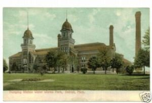 Pumping Station Water Works Detroit MI c. 1908 Postcard