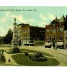 Public Square New Castle PA c.1910 Postcard