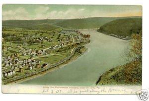 Allegany River, Oil City PA c.1907 Postcard