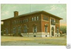 Akron OH Post Office Building c.1910 Postcard