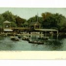 New York Central Park Boat House c. 1905 Postcard