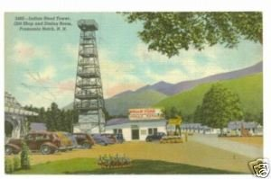 Indian Head Tower Franconia Notch NH Linen Postcard