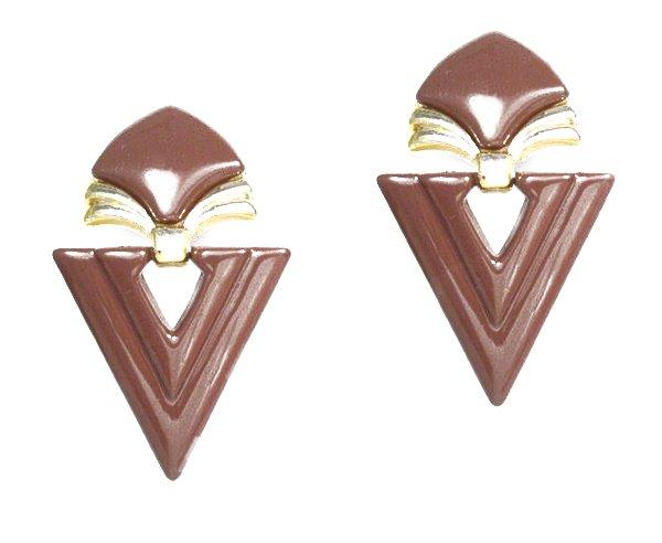 Vintage Art Deco Egyptian Style Earrings Clip