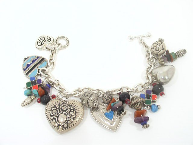 Vintage Silver Tone Southwestern Charm Bracelet