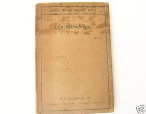 1897 German Book - Der Bibliothekar Play by Moser
