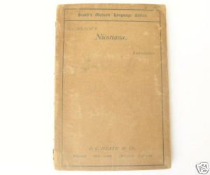 1898 German Book - Nicotiana by Rudolf Baumbach