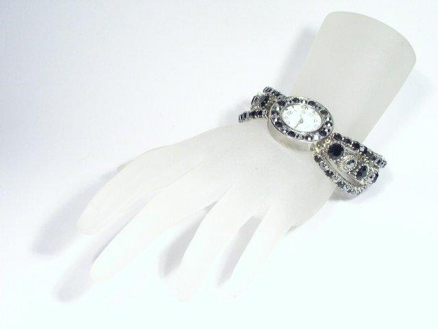 Ladies Black Rhinestone Fashion Quartz Watch