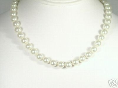 Vintage Quality Glass Faux Pearl Necklace Hand Tied