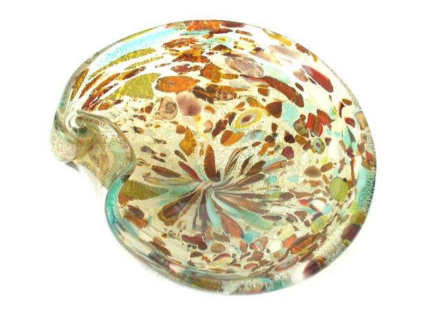 Large Mid Century Modern Murano Art Glass Bowl