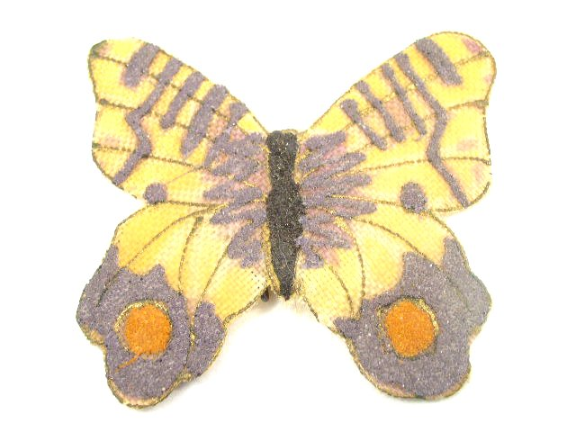 Old Colorful Hand Decorated Butterfly Pin / Brooch