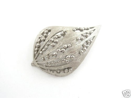 Vintage Mid Century Modern Silver Tone Brooch