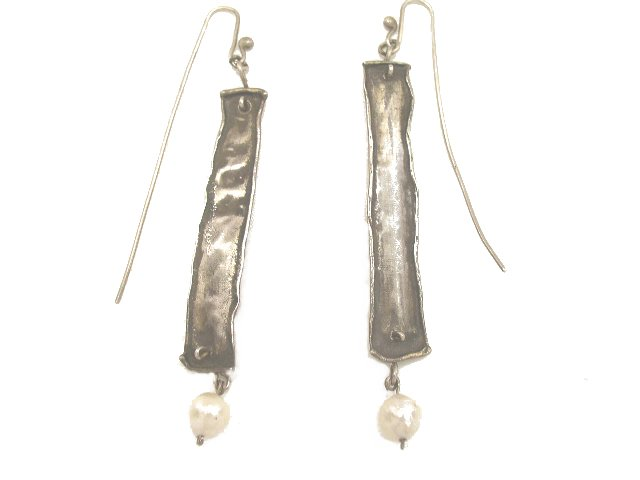 Vintage Artisan Southwestern Silver Earrings