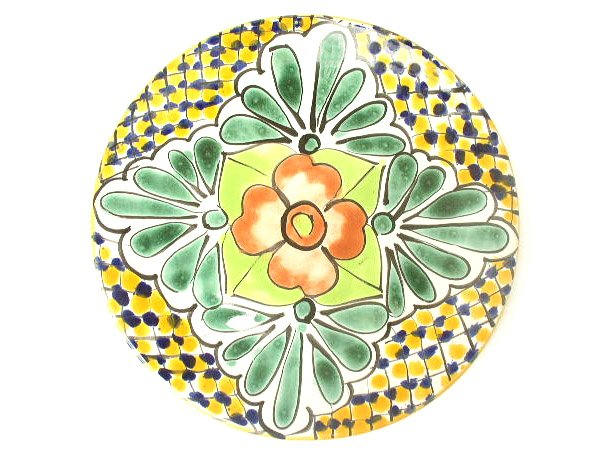 Vtg Hand Painted Mexican Talavera Art Pottery Plate 1