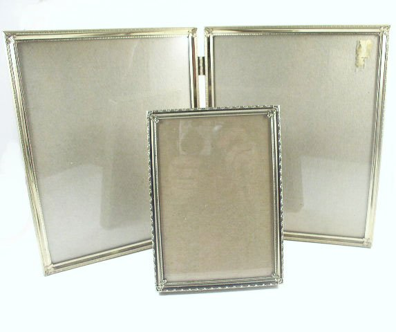 "Vtg 8 x 10"" Double Tabletop Folding Frame Set"