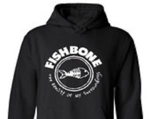 Fishbone  band punk rock music vintage retro style  cool hooded sweatshirt