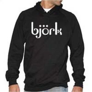Bjork punk rock music vintage retro style  cool hooded sweatshirt