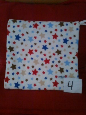 SUPPORT OUR TROOPS HANDMADE LARGE MICROWAVE POTATO BAG FLANNEL FABRIC WITH STARS