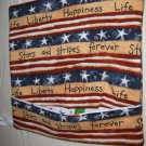 SUPPORT OUR TROOPS HANDMADE  SMALL MICROWAVE   POTATO BAG WITH PATRIOTIC WORDS