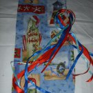 HANDMADE CHRISTMAS  SEASIDE PRINT SMALLER SIZE  WINE BOTTLE GIFT BAG