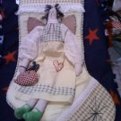 3D ANGEL STOCKING HAND SEWN EDGE OVER BINDING LARGE SIZE WITH PADDED FOAM FOR SUPPORT IN HANGING