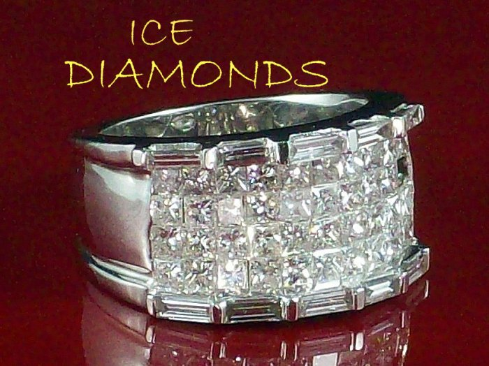 STUNNING ELEGANT MENS DIAMOND RING