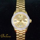PRESIDENT Ladies Rolex Oyster Perpetual 18K Gold!