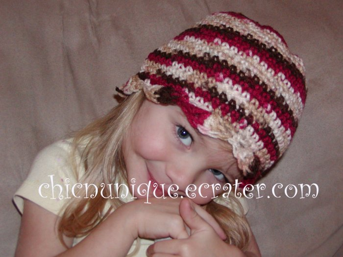 Boutique Crochet Cherry Chip Beanie *Any size Available*