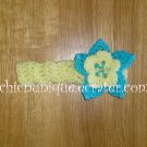 New! Crochet *Light Yellow* Headband Set with a Removable Crochet Flower Clip *FREE SHIPPING *