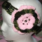New With Tags Pink Camo Camoflauge Headband & Flower Clip *Any Size or Color Combo*