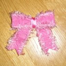New Boutique Pink & White Zebra Print Hair Bow *Your choice of clip*