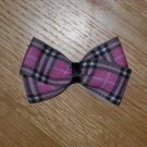 "New! Boutique Pink & Black Plaid 3"" Hair Bow"