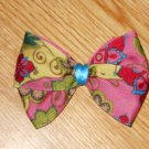 "New! Groovy Boutique Floral Flower Motif 3.5"" Hair Bow"