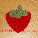 New! Handmade Crochet Boutique Red Strawberry Hair Clip