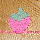 New! Handmade Crochet Boutique Bubble Gum Pink Strawberry Hair Clip