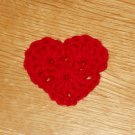 New! Red Valentine Crochet Heart Hair Clip