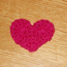 Hot Pink Valentine Crochet ♥Heart♥ Hair Clip