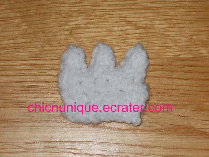 Crochet Princess Crown Hair Clip