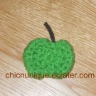 Mini Crochet Green Apple Hair Clip