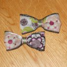 Groovy Chic Boutique Glitter Floral Flower Hair Clip Set of 2