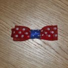 Mini Red, White, & Blue Polka Dot 4th of July Hair Bow