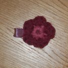 Mini Crochet Flower *Burgundy & Pink*