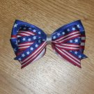 Patriotic American Flag 4th of July Glamorous Double Hair Bow