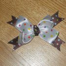 Birthday Girl Polka Dot Boutique Hair Bow Clip