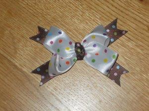 Birthday Girl Polka Dot Boutique Hair Bow Clip
