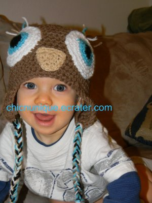 Adorable Boy's Owl Hoo Hat *Any Size Available*